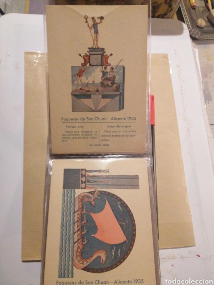 Postales: Fogueres de San Chuan serie de 25 postales originales de monumentos 1935 - Foto 8 - 202474325