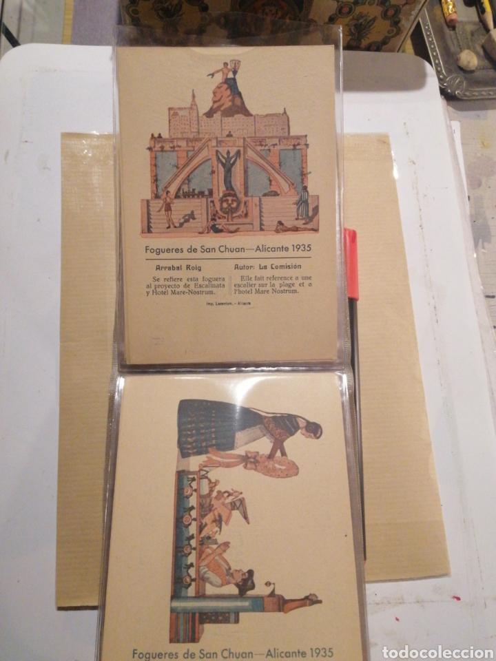Postales: Fogueres de San Chuan serie de 25 postales originales de monumentos 1935 - Foto 9 - 202474325