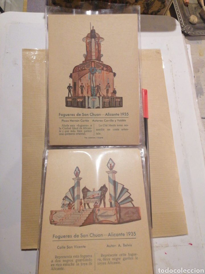 Postales: Fogueres de San Chuan serie de 25 postales originales de monumentos 1935 - Foto 10 - 202474325