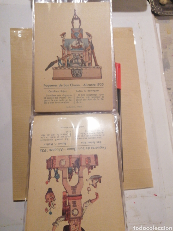 Postales: Fogueres de San Chuan serie de 25 postales originales de monumentos 1935 - Foto 11 - 202474325