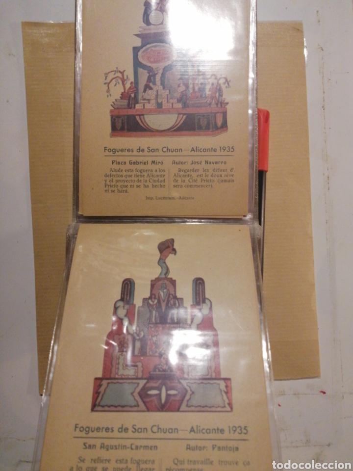 Postales: Fogueres de San Chuan serie de 25 postales originales de monumentos 1935 - Foto 12 - 202474325