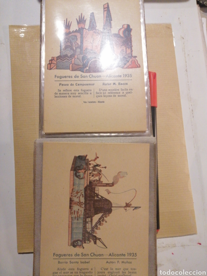 Postales: Fogueres de San Chuan serie de 25 postales originales de monumentos 1935 - Foto 13 - 202474325