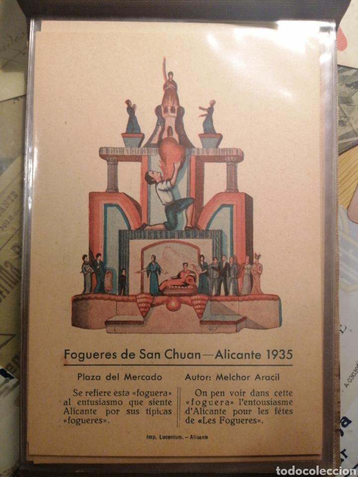 FOGUERES DE SAN CHUAN SERIE DE 25 POSTALES ORIGINALES DE MONUMENTOS 1935 (Postales - Postales Temáticas - Conmemorativas)