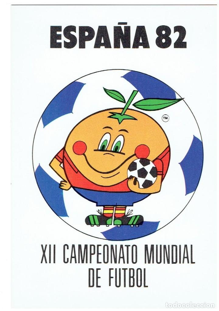 ESPAÑA 82, CAMPEONATO MUNDIAL DE FUTBOL, NARANJITO, COLECCION PERLA, NR.2, SIN CIRCULAR (Postales - Postales Temáticas - Conmemorativas)