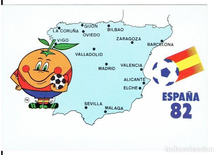 ESPAÑA 82, CAMPEONATO MUNDIAL DE FUTBOL, NARANJITO, COLECCION PERLA, NR.4, SIN CIRCULAR (Postales - Postales Temáticas - Conmemorativas)