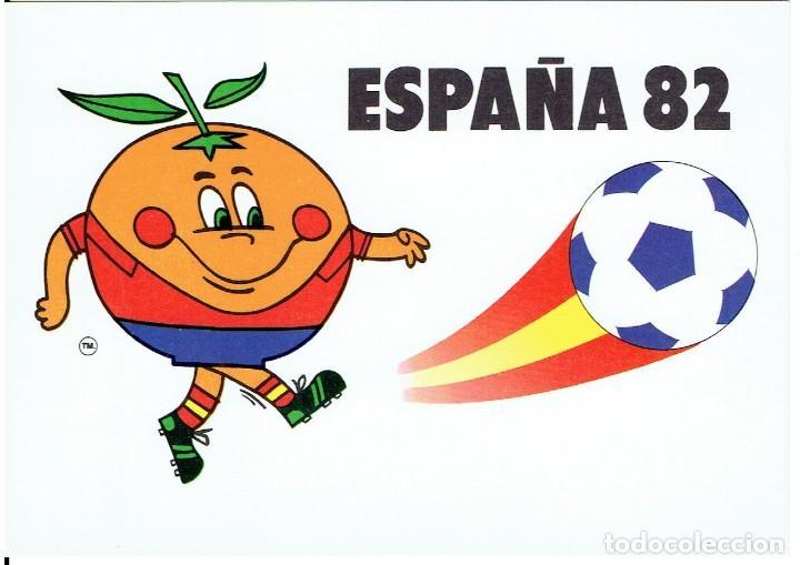 ESPAÑA 82, CAMPEONATO MUNDIAL DE FUTBOL, NARANJITO, COLECCION PERLA, NR.3, SIN CIRCULAR (Postales - Postales Temáticas - Conmemorativas)
