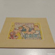 Postales: POSTAL PARTICIPACIÓN BAUTISMO REUS 1948. Lote 205457055