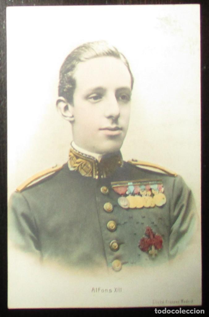 POSTAL ALFONSO XIII. CLICHÉ FRANZEN, MADRID. SIN CIRCULAR NI DIVIDIR. (Postales - Postales Temáticas - Conmemorativas)