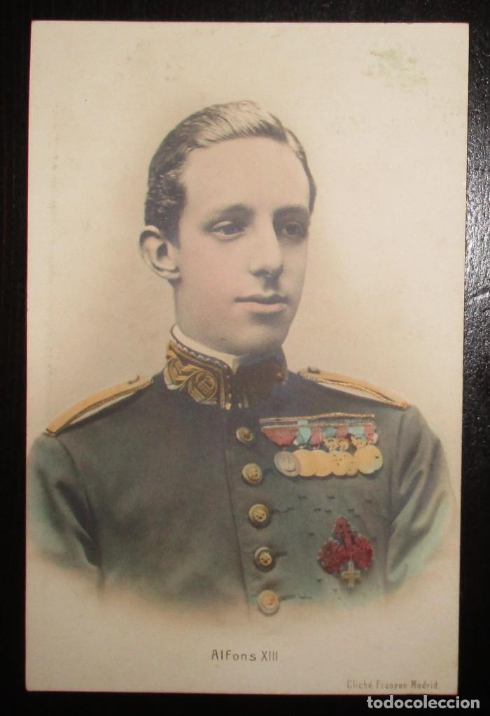 Postales: POSTAL ALFONSO XIII. CLICHÉ FRANZEN, MADRID. SIN CIRCULAR NI DIVIDIR. - Foto 3 - 205785762