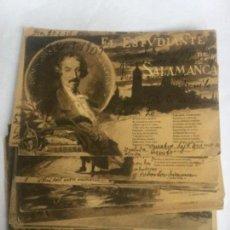 Postales: COLECCION CASI COMPLETAS - 19/20 - JOSE ESPRONCEDA - EL ESTUDIANTE DE SALAMANCA SERIE I Y II. Lote 205809955