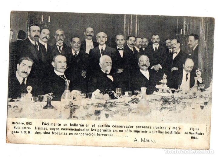 TARJETA POSTAL PARTIDO CONSERVADOR. VIGILIA DE SAN PEDRO 1914. (Postales - Postales Temáticas - Conmemorativas)