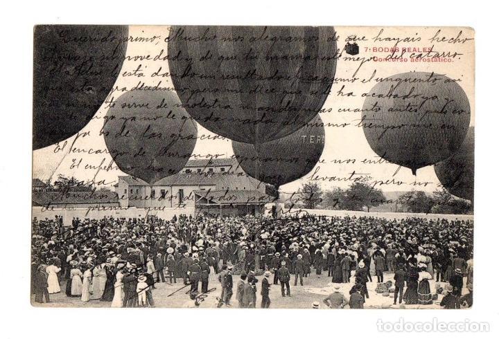 TARJETA POSTAL BODAS REALES. Nº 7. CONCURSO AEROSTATICO. C. 1910 (Postales - Postales Temáticas - Conmemorativas)