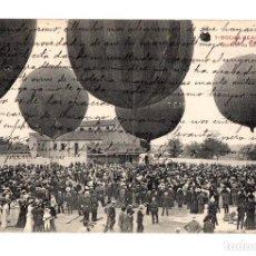 Postales: TARJETA POSTAL BODAS REALES. Nº 7. CONCURSO AEROSTATICO. C. 1910. Lote 212985818
