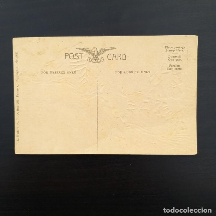 Postales: El encuentro del Atlántico y el Pacífico,Kiss of the Oceans. Postal relieve Canal de Panamá.1912-15 - Foto 2 - 214213618