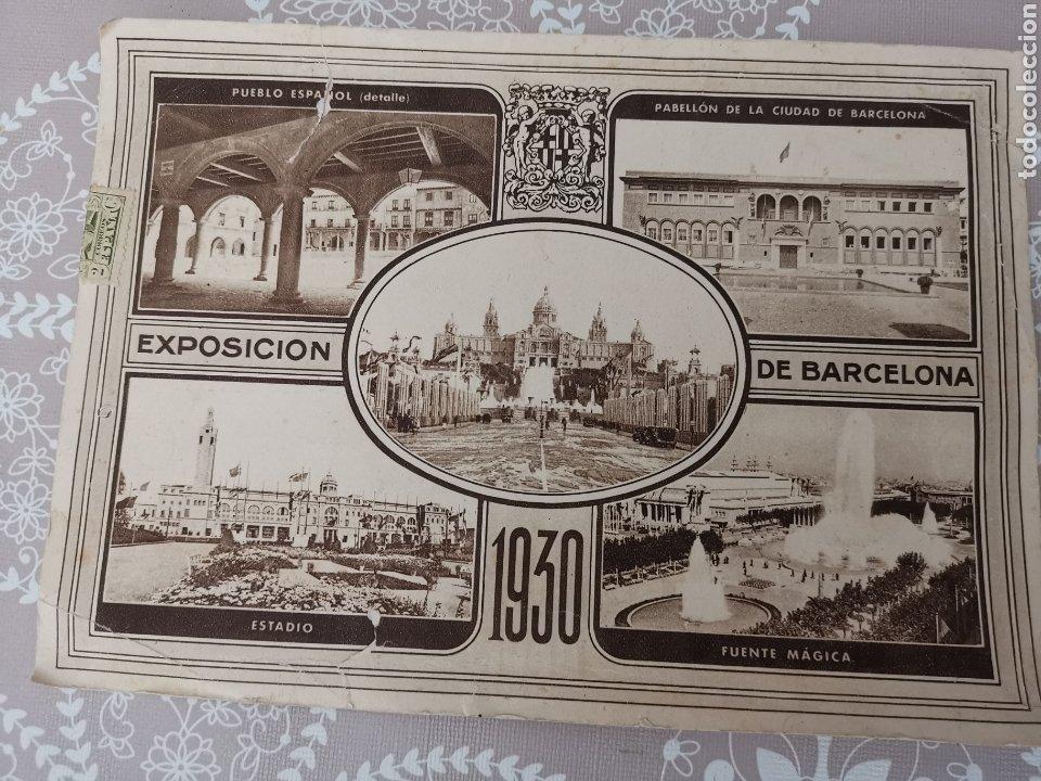 POSTAL DE LA EXPOSICIÓN DE BARCELONA 1930. ENVIADA FÀBRICA GÉNEROS PUNTO. COOPERATIVA Nº44 MATARÓ (Postales - Postales Temáticas - Conmemorativas)