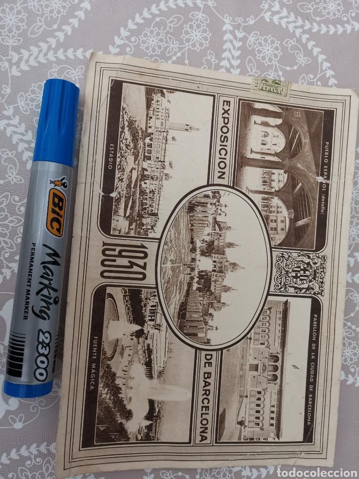 Postales: Postal de La Exposición de Barcelona 1930. Enviada fàbrica Géneros punto. Cooperativa nº44 Mataró - Foto 6 - 217537666