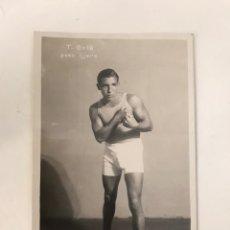 Postales: TOMAS COLA BOXEADOR PESO LIJERO CAMPEON CATALUÑA 1930. Lote 218561213