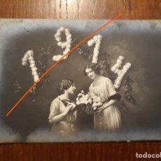 Postales: MUY ORIGINAL POSTAL DE AÑO NUEVO 1914.. Lote 218574356