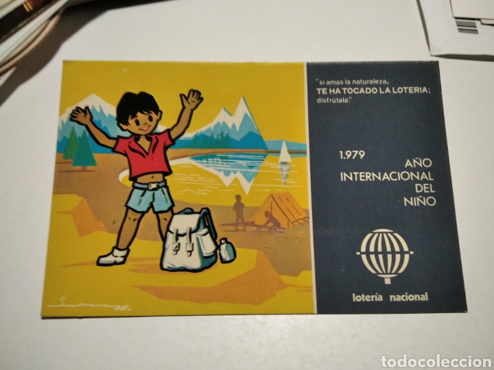 POSTAL LOTERÍA NACIONAL AÑO INTERNACIONAL DEL NIÑO (Postales - Postales Temáticas - Conmemorativas)