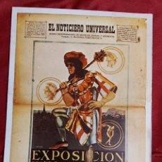 Postales: POSTAL EXPOSICIÓN INTERNACIONAL BARCELONA 1929. EL NOTICIERO UNIVERSAL. ILUSTRADO POR ROJAS.. Lote 221694052