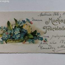 Postales: TARJETA DE FELICITACIÓN DE 1931. Lote 230538745