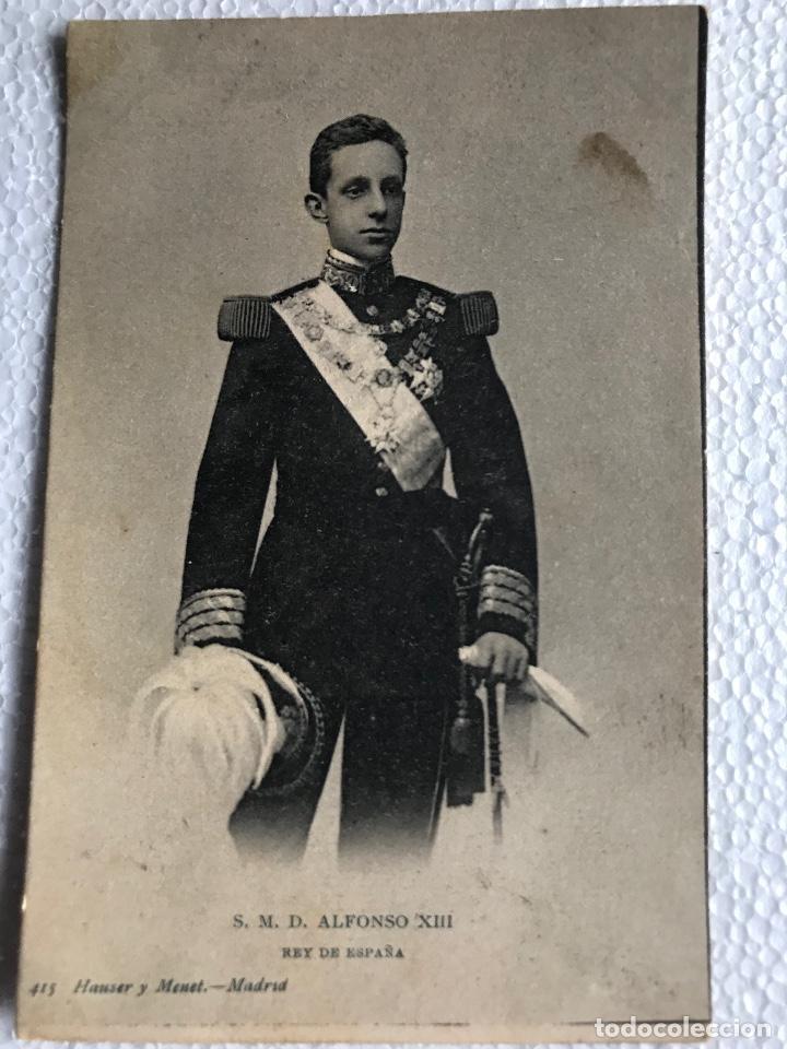POSTAL S. M. D. ALFONSO XIII REY DE ESPAÑA - 415 HAUSER Y MENET SIN CIRCULAR (Postales - Postales Temáticas - Conmemorativas)