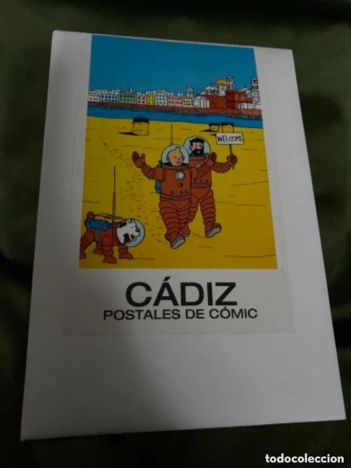 RARAS POSTALES TINTIN EN CÁDIZ POSTALES DE CÓMIC (Postales - Postales Temáticas - Conmemorativas)