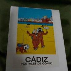 Postales: RARAS POSTALES TINTIN EN CÁDIZ POSTALES DE CÓMIC. Lote 236180255