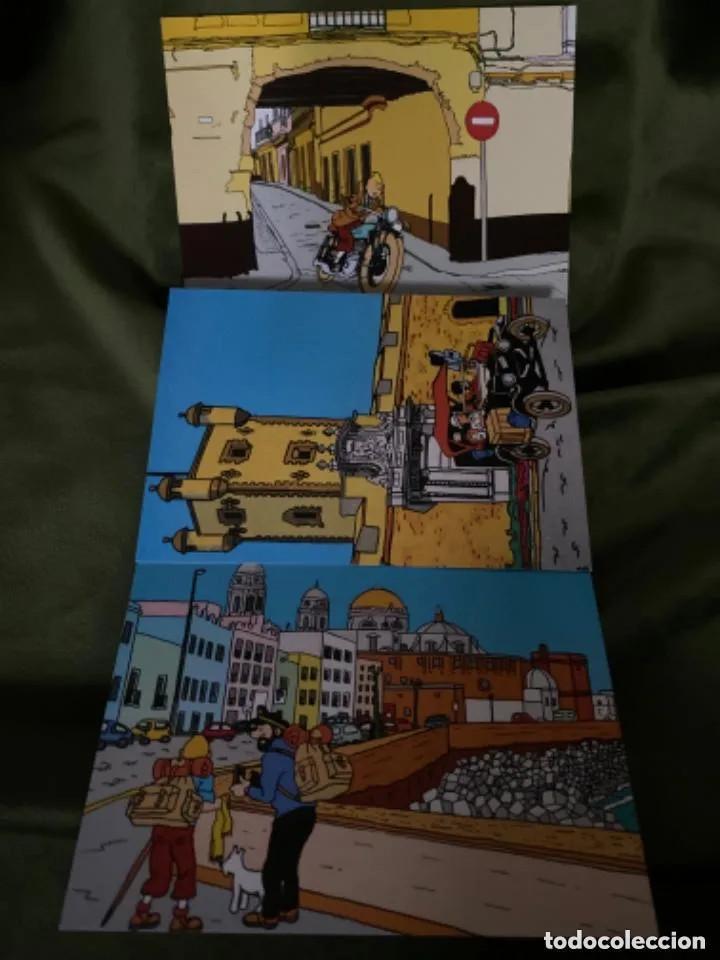 Postales: RARAS POSTALES TINTIN EN CÁDIZ POSTALES DE CÓMIC - Foto 2 - 236180255
