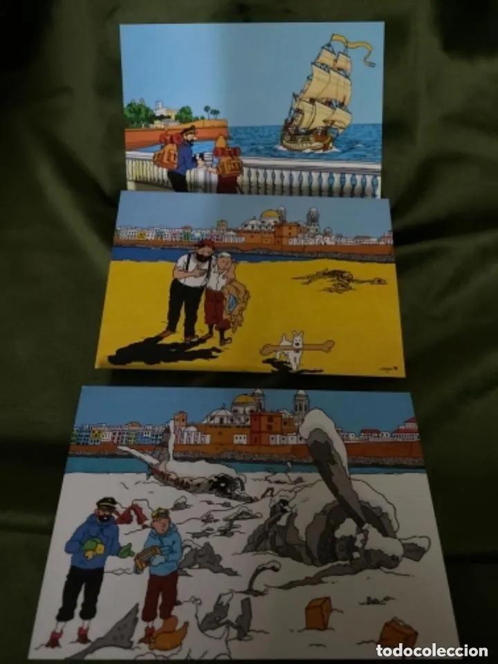Postales: RARAS POSTALES TINTIN EN CÁDIZ POSTALES DE CÓMIC - Foto 3 - 236180255