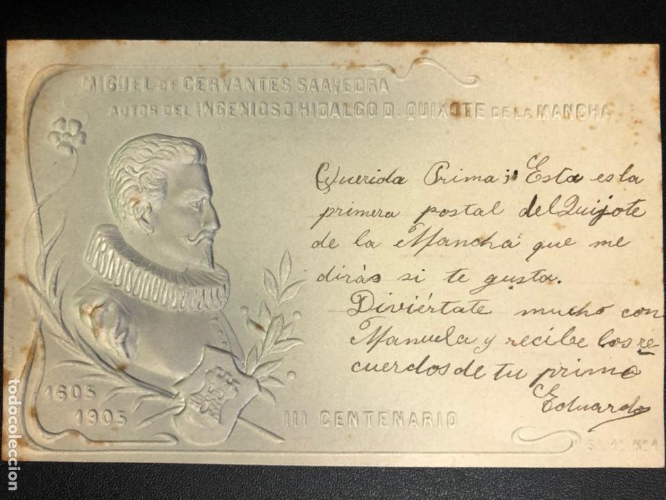 Postales: 10 postales centenario Miguel de Cervantes Saavedra.don quijote de la mancha 1905 - Foto 2 - 245292155