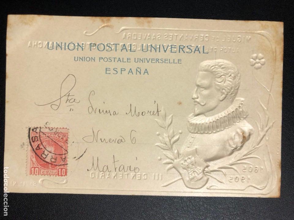 Postales: 10 postales centenario Miguel de Cervantes Saavedra.don quijote de la mancha 1905 - Foto 3 - 245292155
