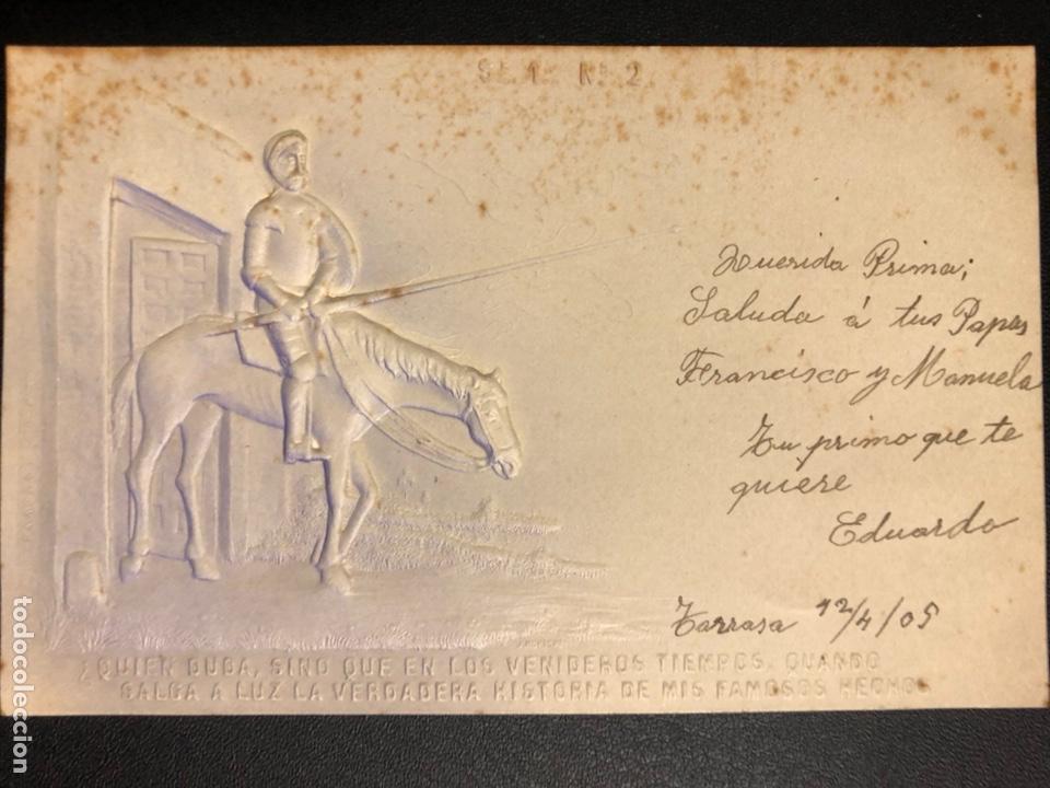 Postales: 10 postales centenario Miguel de Cervantes Saavedra.don quijote de la mancha 1905 - Foto 4 - 245292155