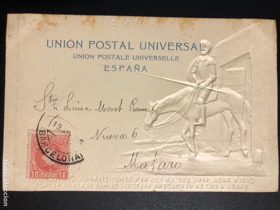 Postales: 10 postales centenario Miguel de Cervantes Saavedra.don quijote de la mancha 1905 - Foto 5 - 245292155