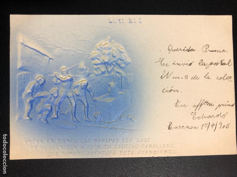 Postales: 10 postales centenario Miguel de Cervantes Saavedra.don quijote de la mancha 1905 - Foto 6 - 245292155
