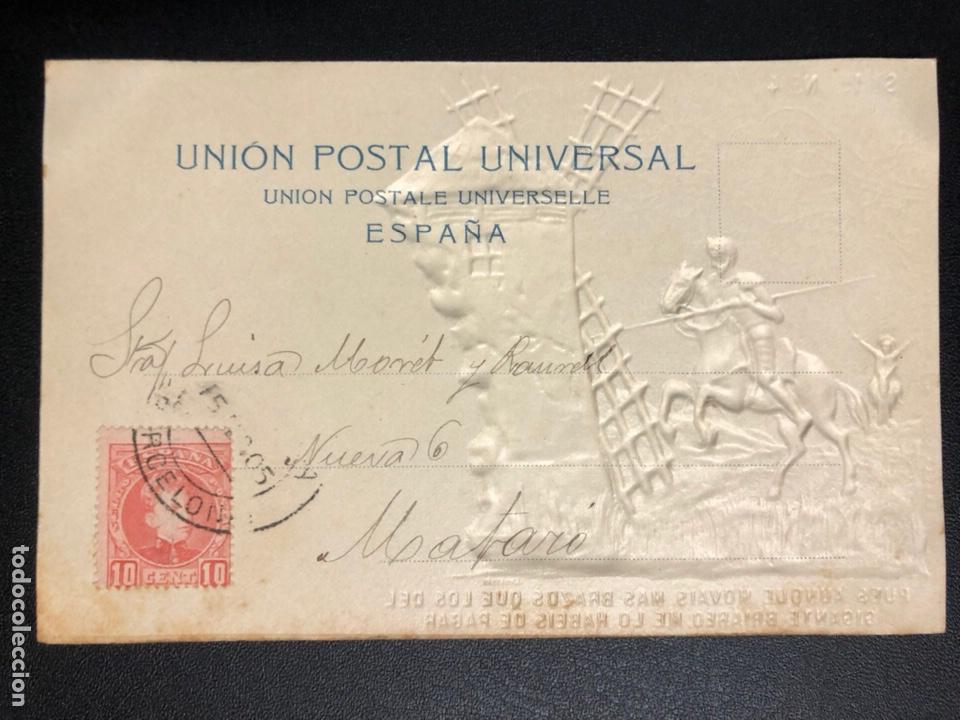 Postales: 10 postales centenario Miguel de Cervantes Saavedra.don quijote de la mancha 1905 - Foto 9 - 245292155
