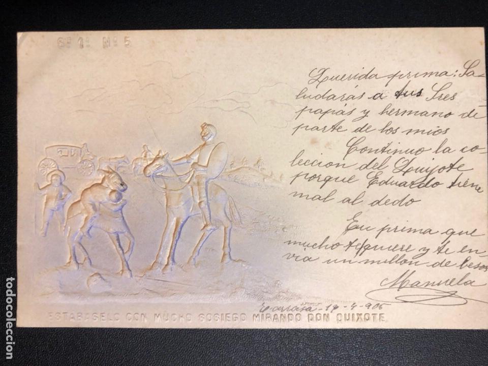 Postales: 10 postales centenario Miguel de Cervantes Saavedra.don quijote de la mancha 1905 - Foto 10 - 245292155