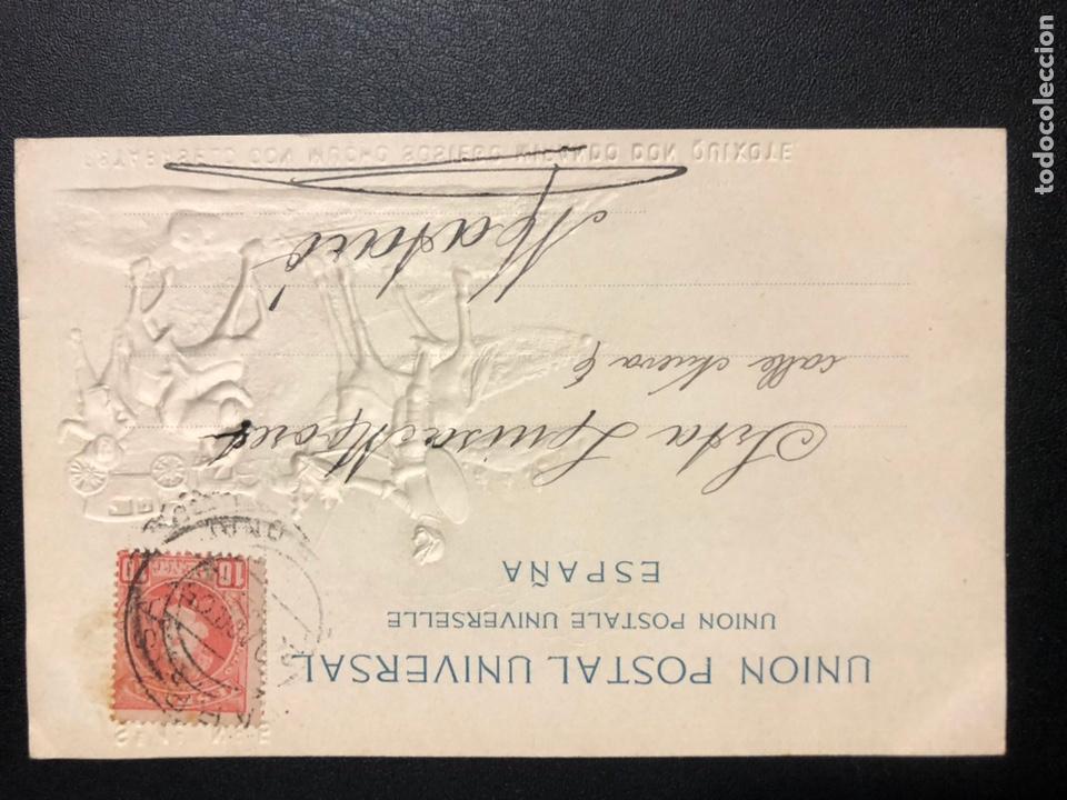 Postales: 10 postales centenario Miguel de Cervantes Saavedra.don quijote de la mancha 1905 - Foto 11 - 245292155