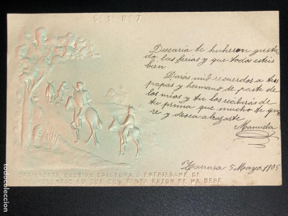 Postales: 10 postales centenario Miguel de Cervantes Saavedra.don quijote de la mancha 1905 - Foto 14 - 245292155