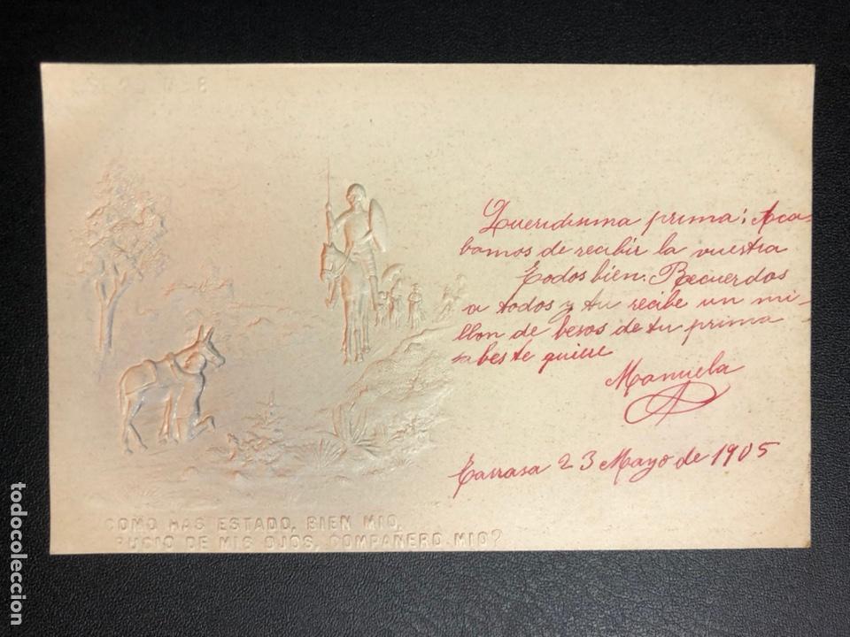 Postales: 10 postales centenario Miguel de Cervantes Saavedra.don quijote de la mancha 1905 - Foto 16 - 245292155