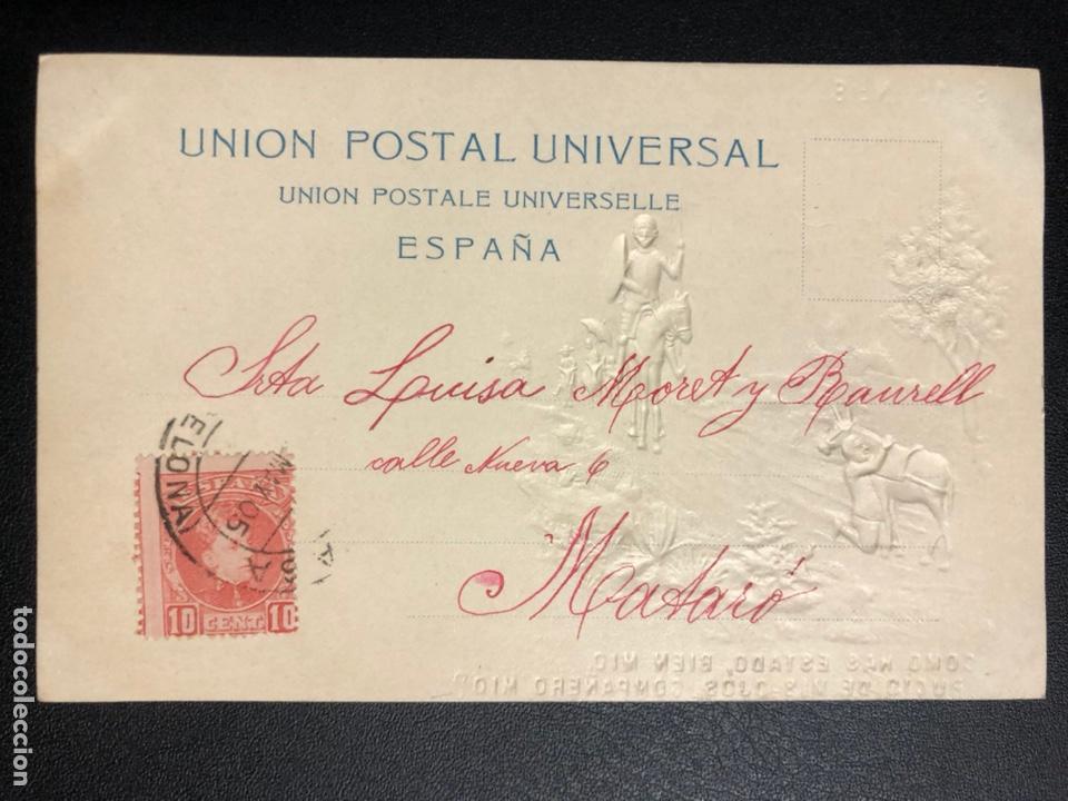 Postales: 10 postales centenario Miguel de Cervantes Saavedra.don quijote de la mancha 1905 - Foto 17 - 245292155