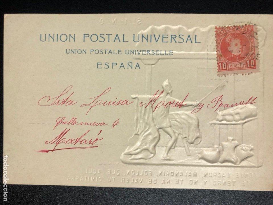 Postales: 10 postales centenario Miguel de Cervantes Saavedra.don quijote de la mancha 1905 - Foto 19 - 245292155