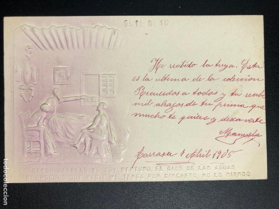 Postales: 10 postales centenario Miguel de Cervantes Saavedra.don quijote de la mancha 1905 - Foto 20 - 245292155