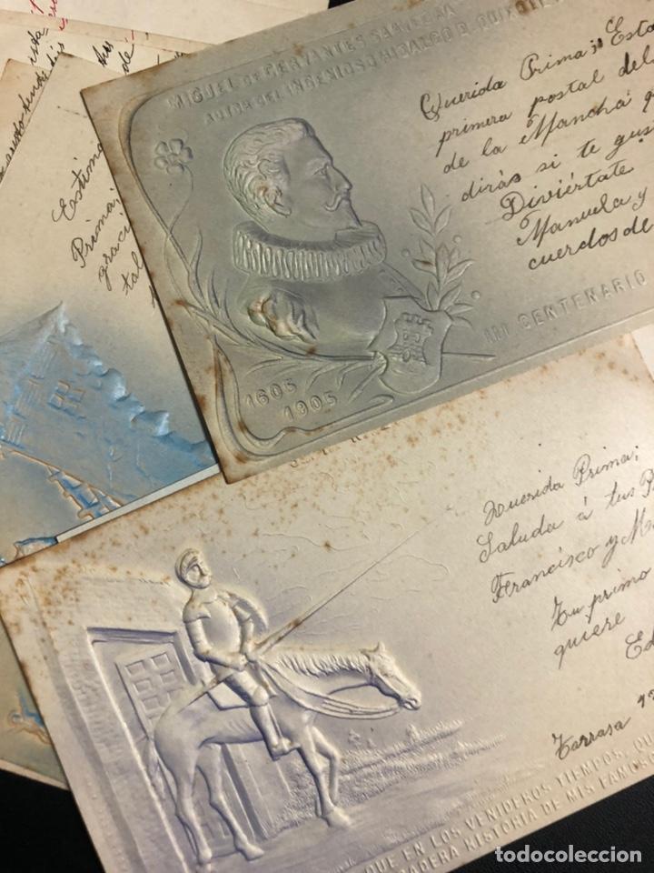 10 POSTALES CENTENARIO MIGUEL DE CERVANTES SAAVEDRA.DON QUIJOTE DE LA MANCHA 1905 (Postales - Postales Temáticas - Conmemorativas)