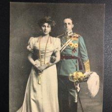 Postales: TARJETA POSTAL REYES DE ESPAÑA ALFONSO XIII Y VICTORIA EUGENIA.HAUSER Y MENET. Lote 245292760