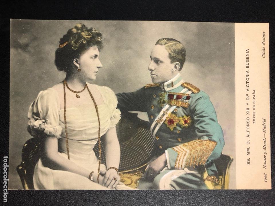 TARJETA POSTAL REYES DE ESPAÑA ALFONSO XIII Y VICTORIA EUGENIA.HAUSER Y MENET (Postales - Postales Temáticas - Conmemorativas)