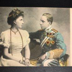 Postales: TARJETA POSTAL REYES DE ESPAÑA ALFONSO XIII Y VICTORIA EUGENIA.HAUSER Y MENET. Lote 245292805