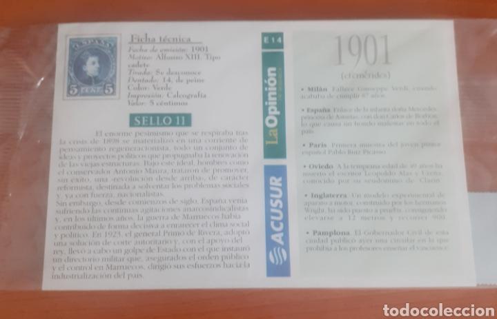 Postales: Sello troquelado de metal alfonso Xll 5 céntimos potal Estepona paseo del Carmen - Foto 2 - 251664875