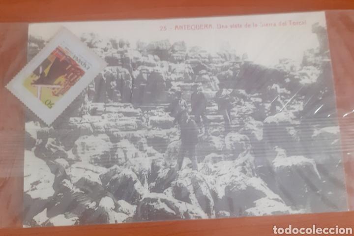 Postales: Sello troquelado de metal semana santa de Málaga 50pesetas postal antequera una visita de la sierra - Foto 3 - 251674935