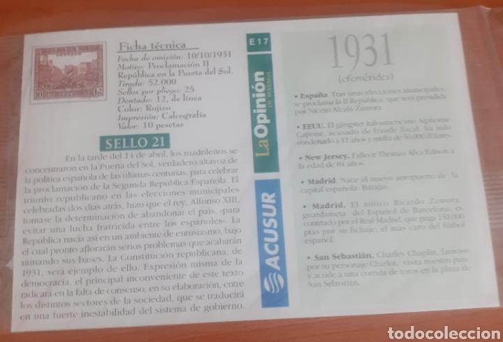 Postales: Sello troquelado de metal proclamación II 10pesetas postal antequera santa María la mayor - Foto 2 - 251682190